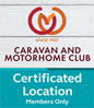 Caravan and Motorhome Club website